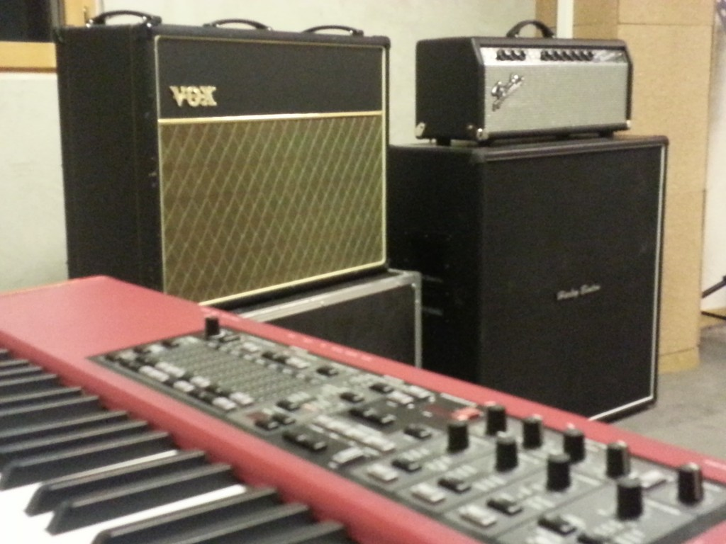 Nord Electro, Vox ac30 et Fender Deluxe Reverb