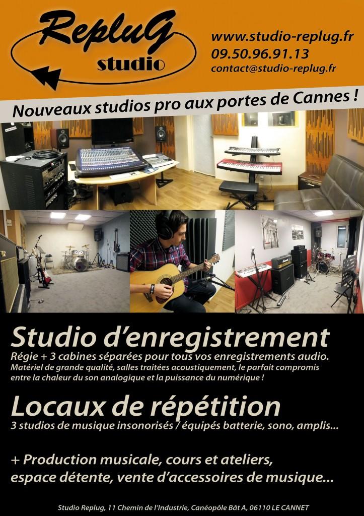 studio d'enregistrement, salles de répétition au Cannet (06)
