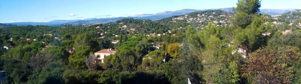 Magnifique vue sur les collines de Mougins !